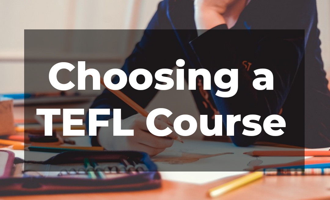how to choose a tefl course title image